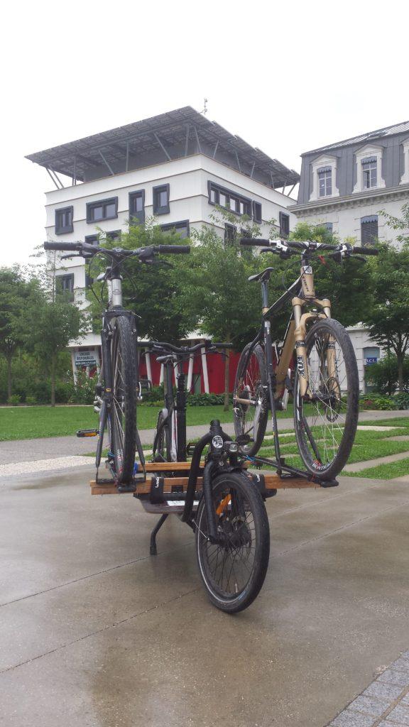 transport de vélo pour un entretien hors site